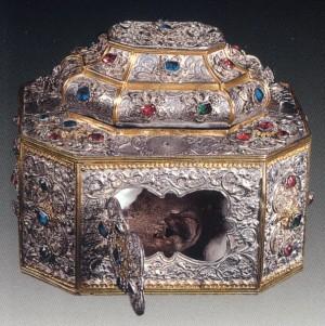 Η αγιασμ�νη κάρα του Αγίου Ιωάννου του Χρυσοστόμου, πολύτιμο κειμήλιο της Ι.Μ. Βατοπαιδίου