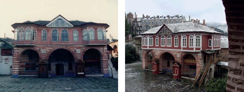 Η Τράπεζα της Μονής πριν και μετά την ανακαίνιση.