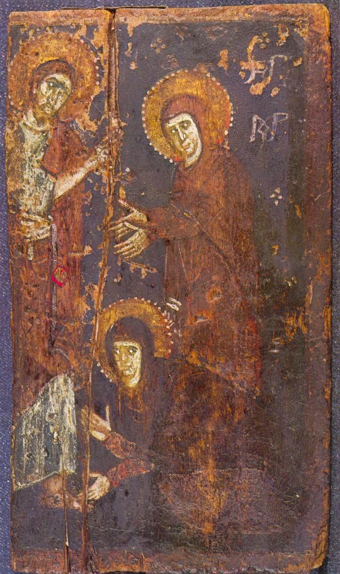 Ο Χριστός εμφανίζεται στις μυροφόρες. Εικόνα του 7ου αιώνα από την Μονή του Σινά.