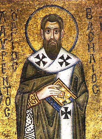 Ο Άγιος Βασίλειος. Ψηφιδωτό του 11ου αιώνα από τον ναό της Αγίας Σοφίας στο Κίεβο.