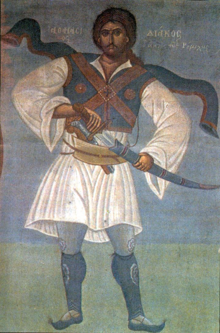 Αθανάσιος Διάκος ο Αητός της Ρούμελης. Τοιχογραφία του Φώτη Κόντογλου (1895-1965)