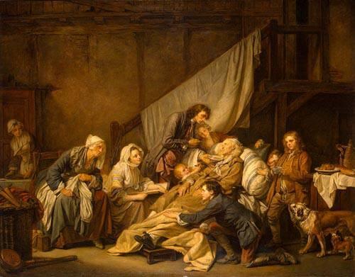 Jean-Baptiste Greuze. Ο παραλυτικὀς