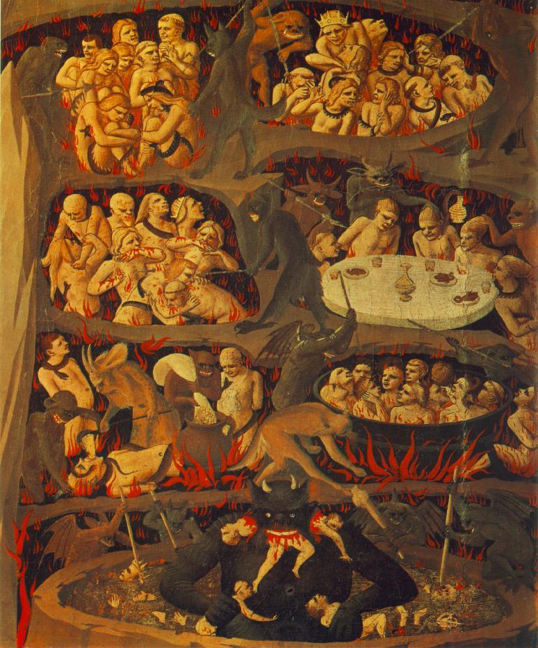 Η Ημέρα της Κρίσης (λεπτομέρεια). Πίνακας του Φρα Αντζέλικο (1425-1430)
