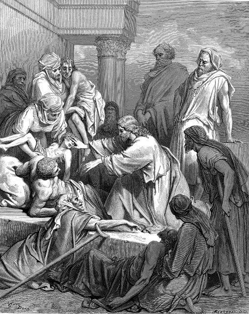 Gustave Dore. Ο Ιησούς θεραπεύει τους ασθενείς.