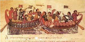 Byzantine naval battle