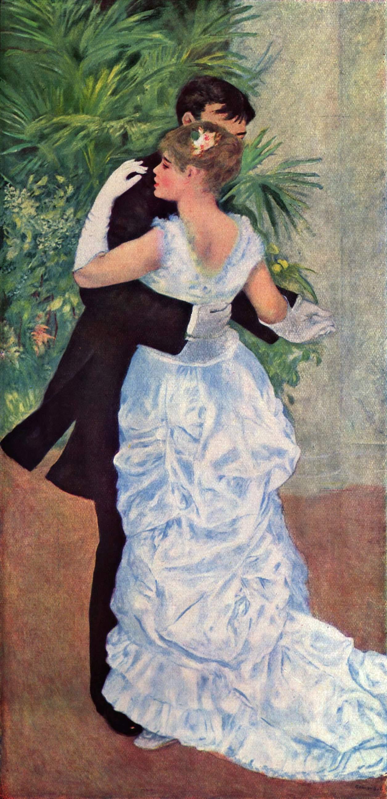 """""""Ο χορός στην πόλη"""" (1882-1883) του Pierre-Auguste Renoir. Παρίσι, Musée d'Orsay."""