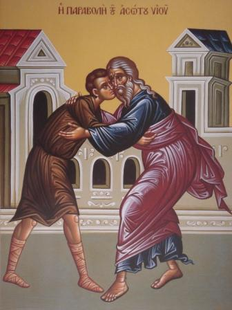 Ο άσωτος υιός επιστρέφει στην αγκαλιά του πατέρα του (Κατά Λουκάν κεφ. ΙΕ' στίχοι 11-32)