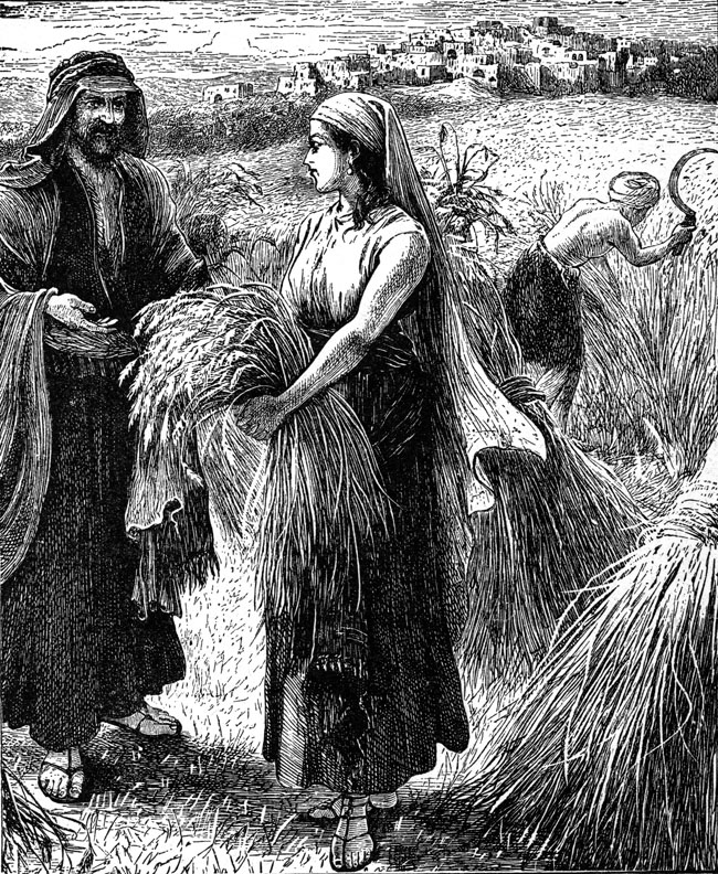 Η Ρουθ στο χωράφι με τον Βοόζ. (Η ιστορία της βρίσκεται στο βιβλίο της Ρουθ στην Παλαιά Διαθήκη).
