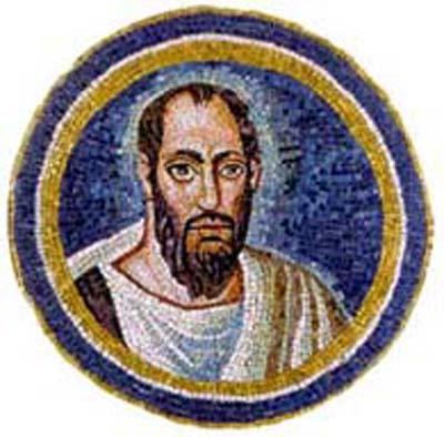 Ο απόστολος Παύλος. Ψηφιδωτό από το αρχιεπισκοπικό παρεκκλήσιο της Ραβέννας (494-495 μΧ).