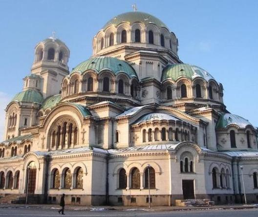 The Cathedral of Alexander Nevsky in Sofia, Bulgaria.