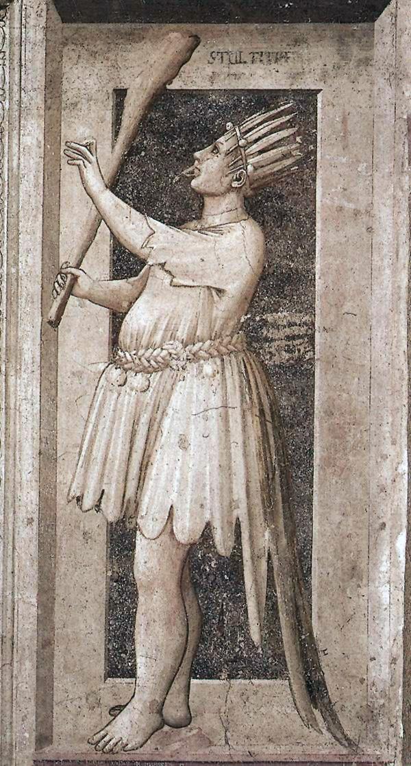Η αφροσύνη. Τοιχογραφία του Giotto (1267-1337).