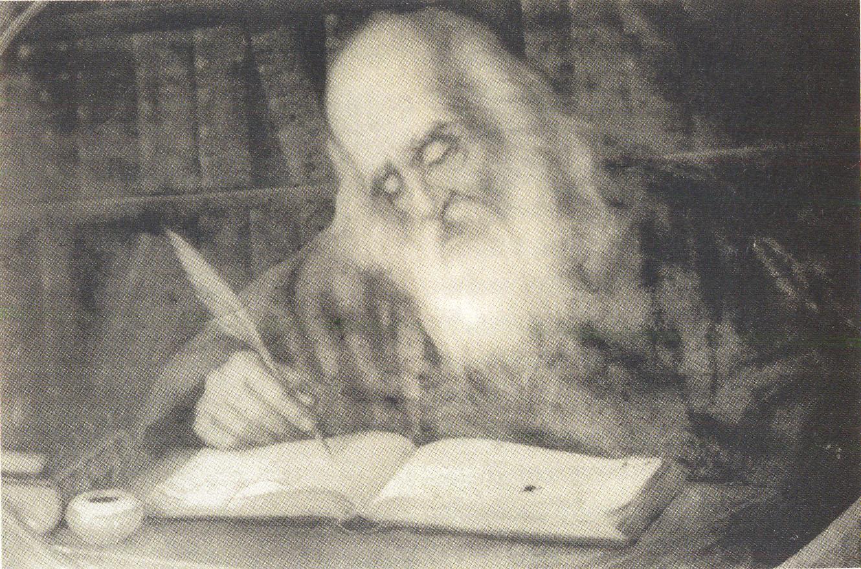 Όσιος Νικόδημος ο Αγιορείτης. Ελαιογραφία με τη φυσική του μορφή (19ος αι.)