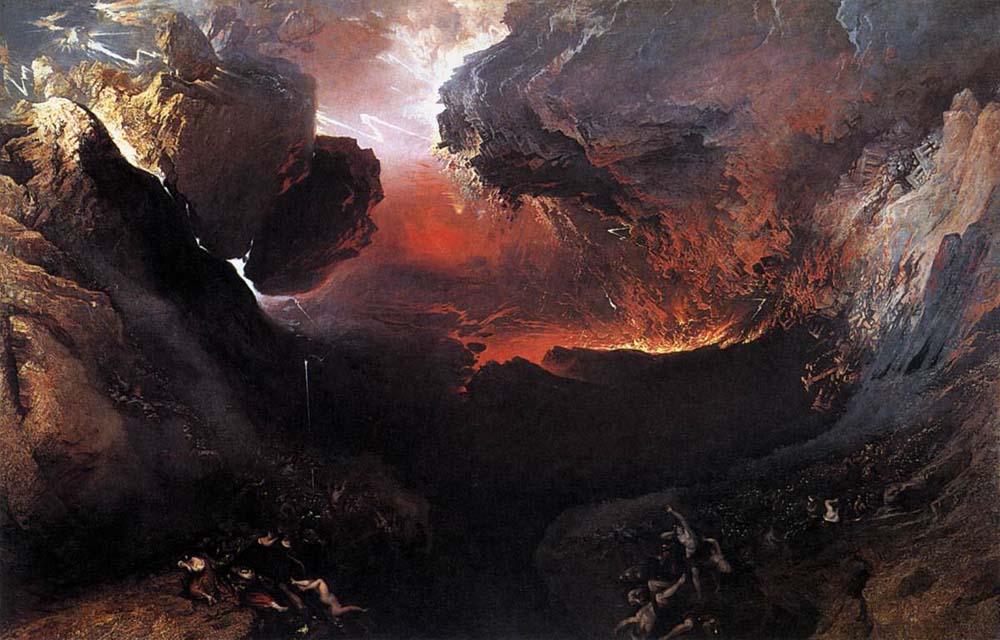 Η μεγάλη μέρα της οργής Του. Πίνακας του Άγγλου ζωγράφου John Martin (1853).
