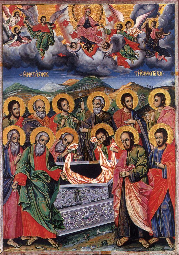 Η Μετάσταση της Θεοτόκου. Φορητή εικόνα της Ι.Μ.Μ. Βατοπαιδίου