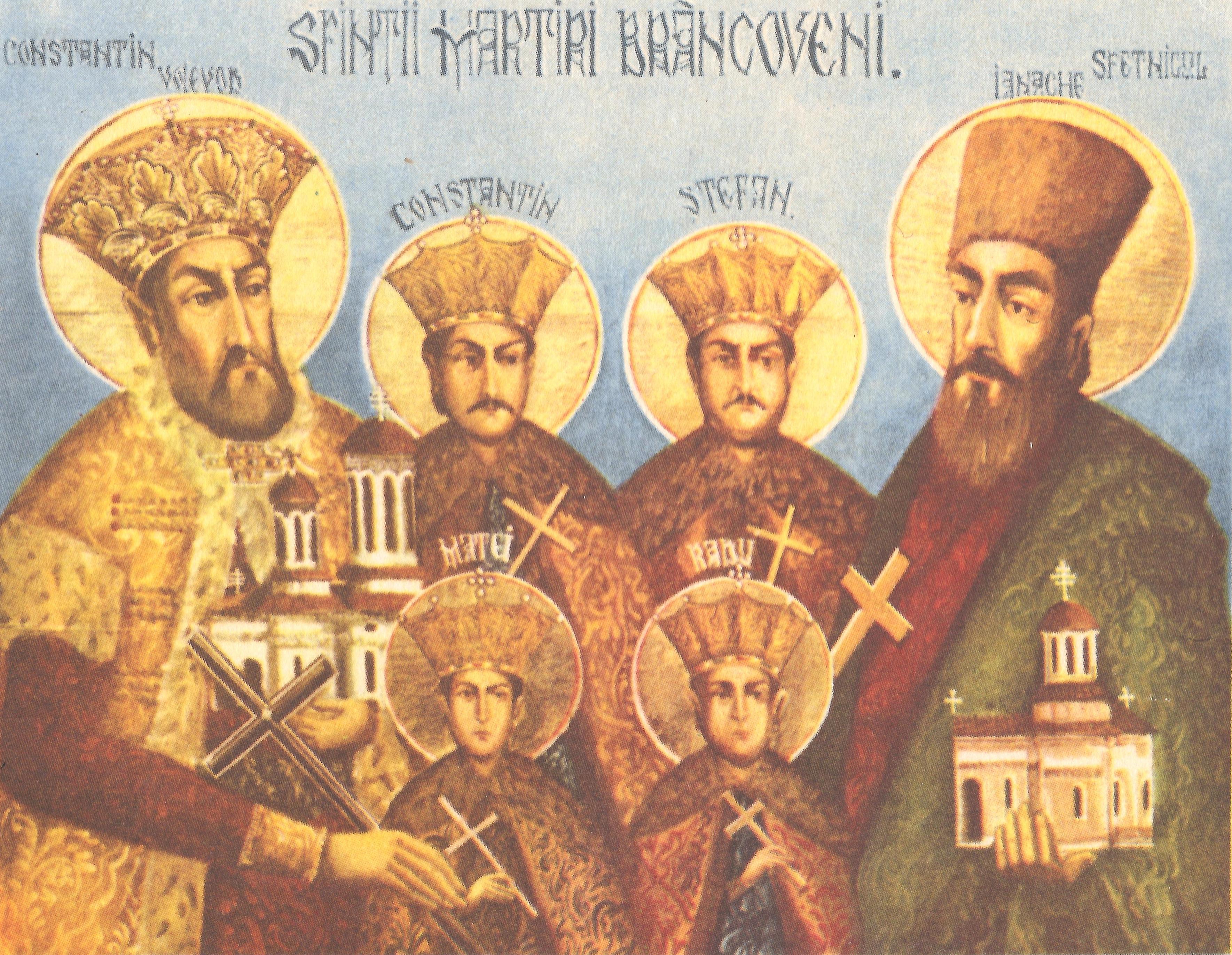 Agios Konstantinos Brancoveanu kai oi syn ayto