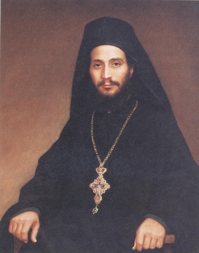 Ο Γέροντας Αιμιλιανός σε νεαρή ηλικία (πίνακας).