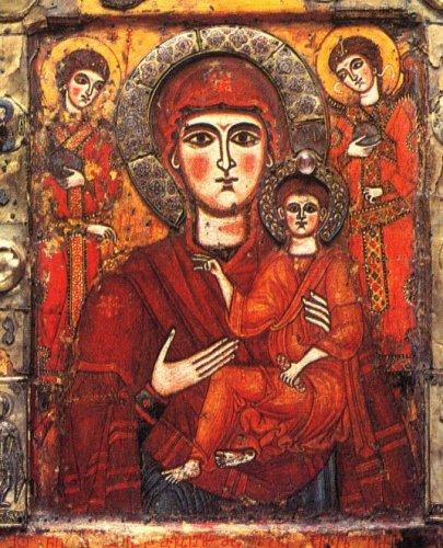 Η θαυματουργική γεωργιανή εικόνα της Παναγίας του Τσιλκάνι. Θεωρείται ότι είναι από τον 9ο αιώνα.