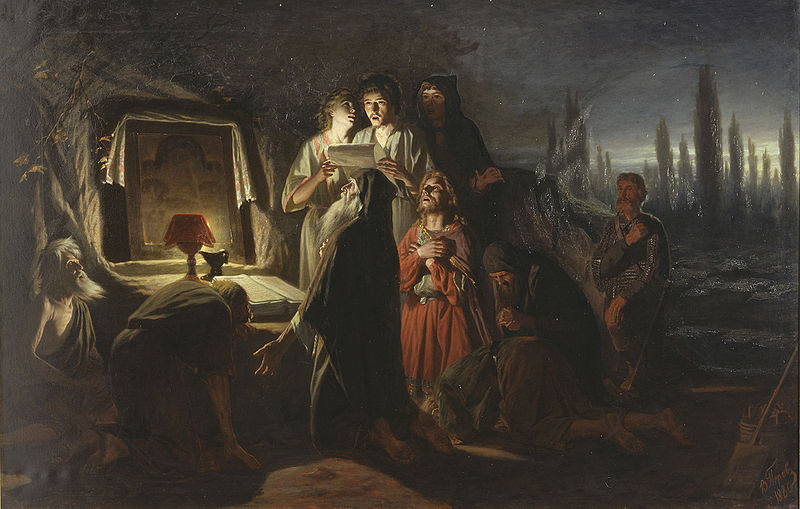 First Christians of Kiev. Painting by Vasily Perov (1880)