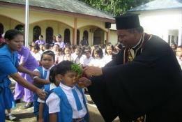 Αγιασμός σε Ορθόδοξο Σχολείο