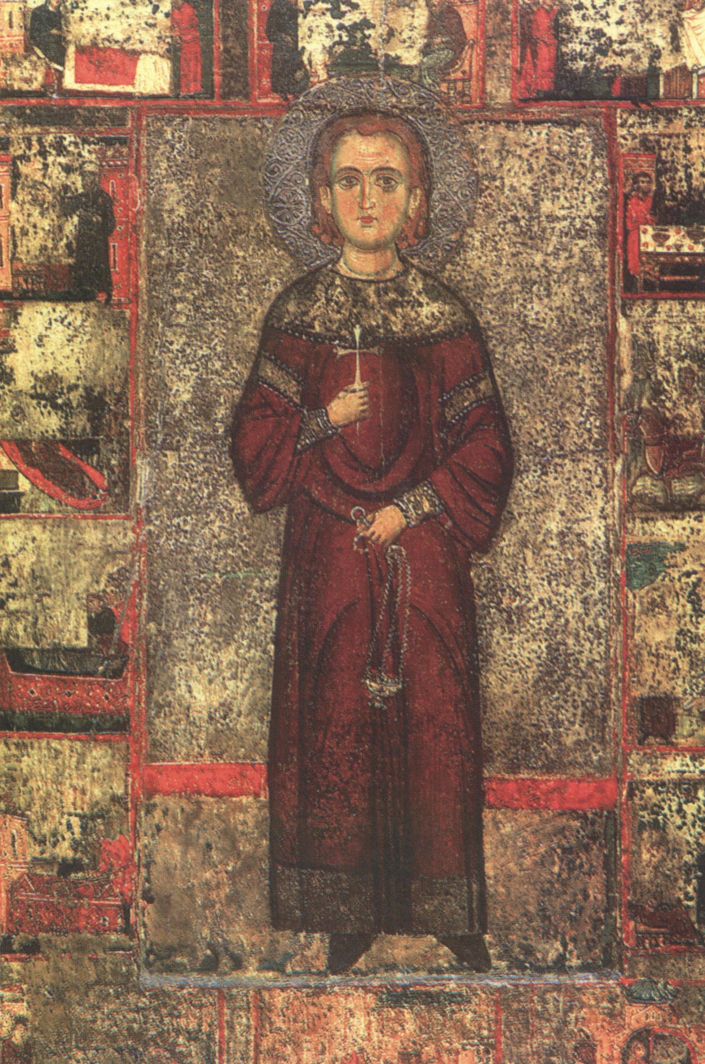 Ο Άγιος Ιωάννης ο Λαμπαδιστής (Φορητή Εικόνα 13ου αιώνα)