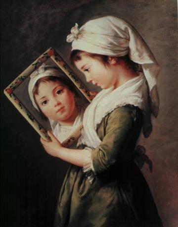 κοριτσακι με καθρεφτη
