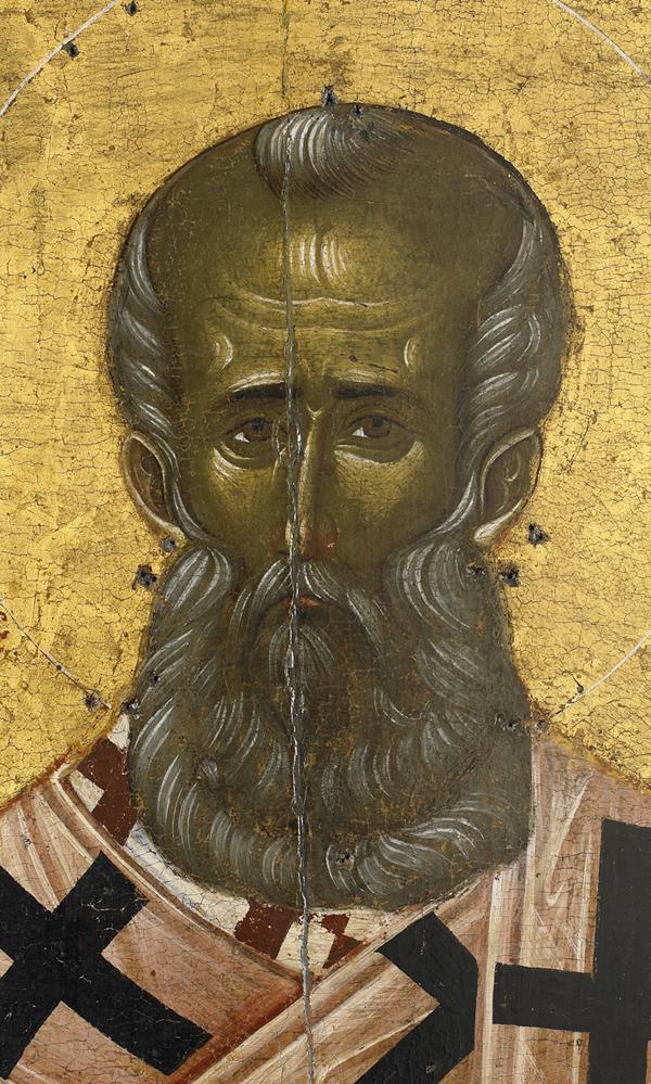 Άγιος Γρηγόριος Θεολόγος. Φορητή εικόνα 14ος αι. Ι.Μ.Μ. Βατοπαιδίου.