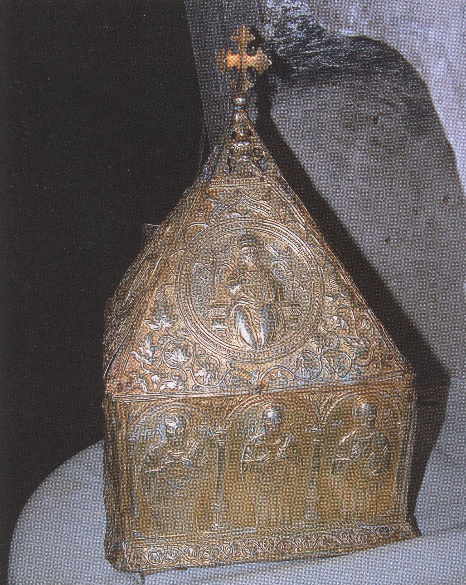 Αργυρή Λειψανοθήκη του Αγίου Ιωάννη Λαμπαδιστή.
