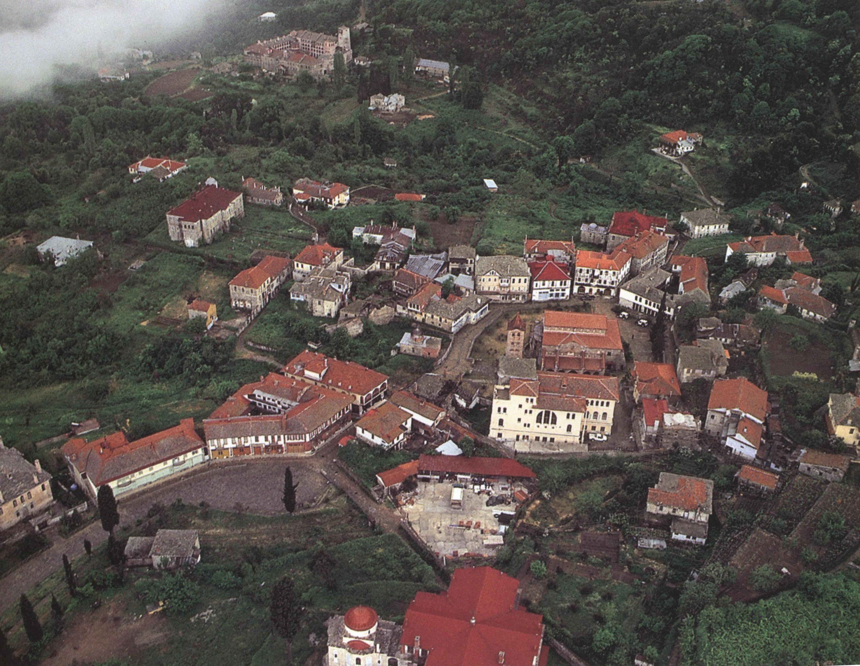 Καρυές. Πανοραμική άποψη. Karyes. A panorama view.