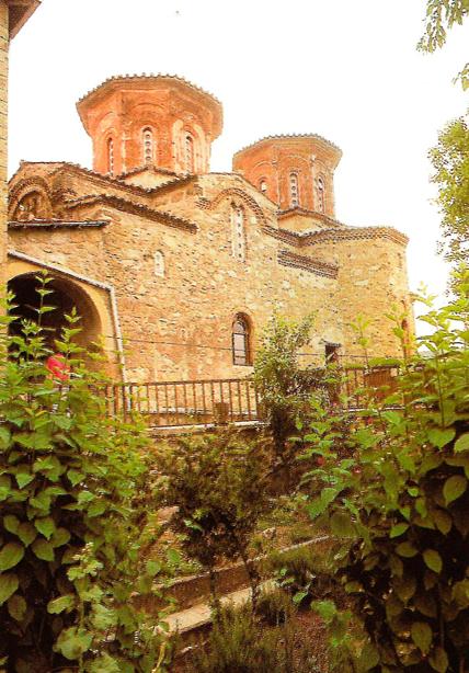 Εξωτερική άποψη του καθολικού της Μονής Βαρλαάμ