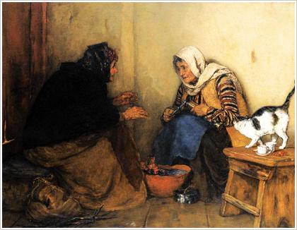 The Gossip. Painting of Nikolaos Gyzis