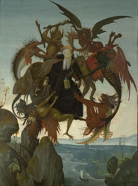 The Torment of Saint Anthony. painting of Michelangelo c. 1487-­88