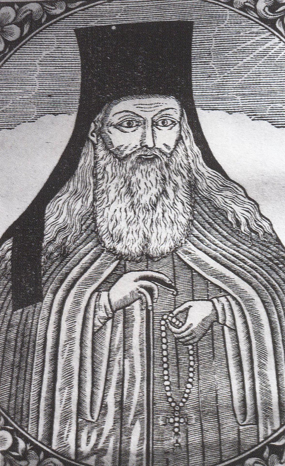 Ο όσιος Παΐσιος Βελιτσκόφσκυ σε παλαίτυπο της Μονής Νεάμτς.