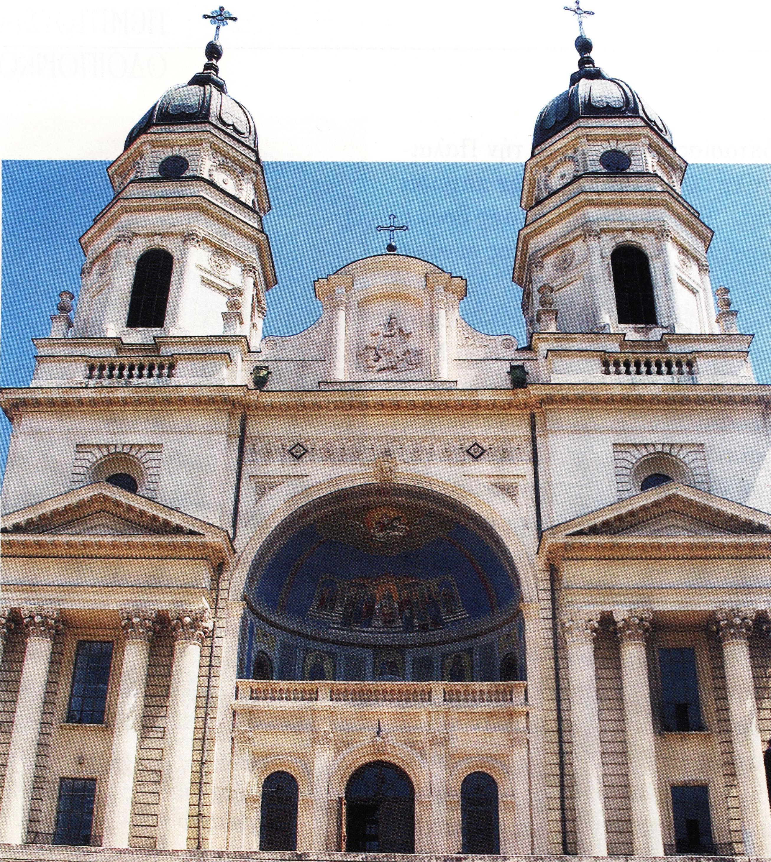 Ο μεγαλοπρεπής ναός  της Αγίας Παρασκευής της Επιβατηνής στο Ιάσιο.