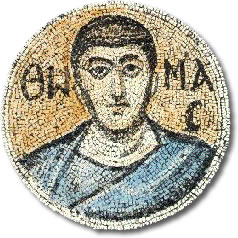 Ο απόστολος Θωμάς. Ψηφιδωτό του 6ου αιώνα στην Μονή του Σινά.