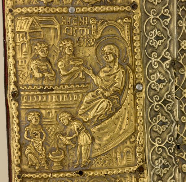 Διάχωρο με σύνθεση την Γέννηση της Θεοτόκου από την επένδυση της Παναγίας Βηματάρισσας (Ι.Μ.Μ. Βατοπαιδίου)