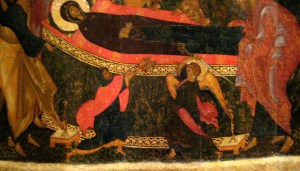 Detail of Dormition Icon: Athonios gets his hands chopped off