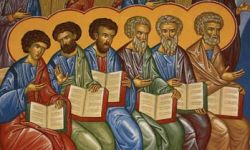 Detail of  Disciples from  Fresco at Monastery of Saint-Antoine-le-Grand