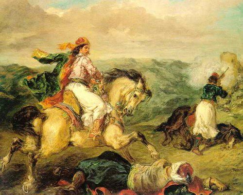 Έφιππος Έλληνας Αγωνιστής.Εθνική πινακοθήκη και Μουσείο Αλέξανδρου Σούτσου.Ευγένιος Ντελακρουά