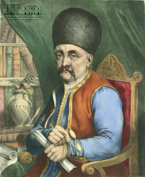 Προσωπογραφία Ιωάννη Λογοθέτη, 1827επιχρωματισμένη Λιθογραφία