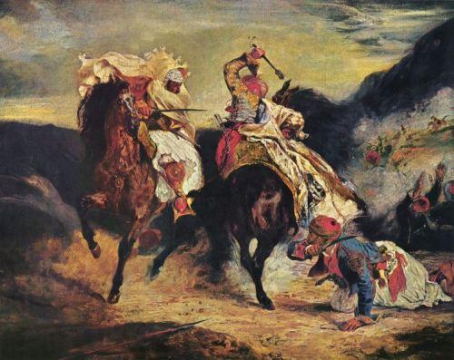 Μάχη Έλληνα και του πασάΕυγένιος Ντελακρουά