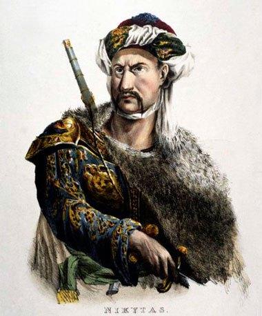 Προσωπογραφία του Νικήτα – Adam de Friedel 1827.