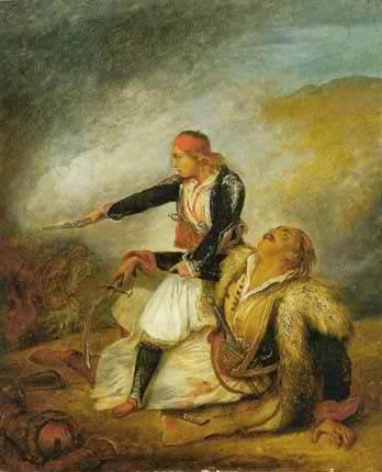 Ελληνόπουλο που υπερασπίζεται τον πατέρα του.Ary Scheffer