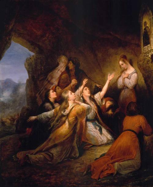 Οι Ελληνίδες Ζητώντας την βοήθεια της Παναγίας.Ary Scheffer