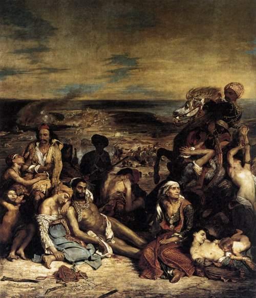 H σφαγή της Χίου. Musee du LouvreΕυγένιος Ντελακρουά