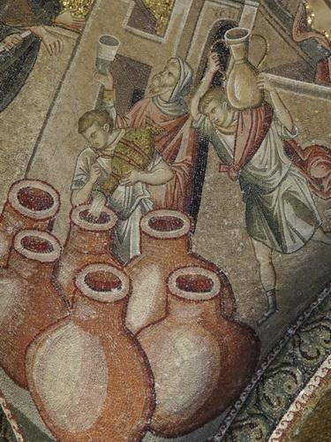 Ψηφιδωτό. Τουρκία, Κωνσταντινούπολη, Μονή της Χώρας, Αναπαράσταση πιθαριών. (©Φωτογραφικό Αρχείο ΕΚΒΜΜ)