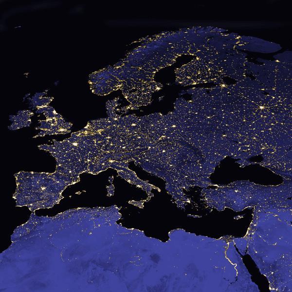 Europe in night