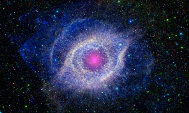 Ο θάνατος ενός άστρου – σε απόσταση 650 ετών φωτός – όπως τον βλέπουμε μέσω του διαστημικού τηλεσκοπίου Spitzer της NASA και του Galaxy Evolution Explorer (GALEX), που η NASA έχει δανείσει στο California Institute of Technology στην Πασαντένα. (πηγή: www.nasa.gov)