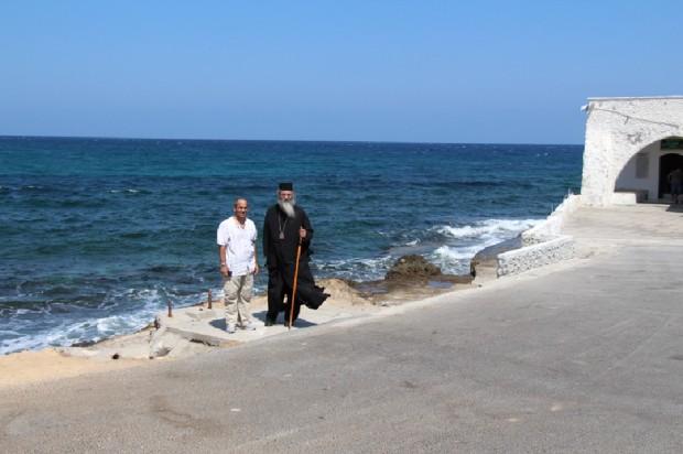 Ο Μητροπολίτης Μόρφου Νεόφυτος και ο βυζαντινολόγος Αντρέας Φούλιας