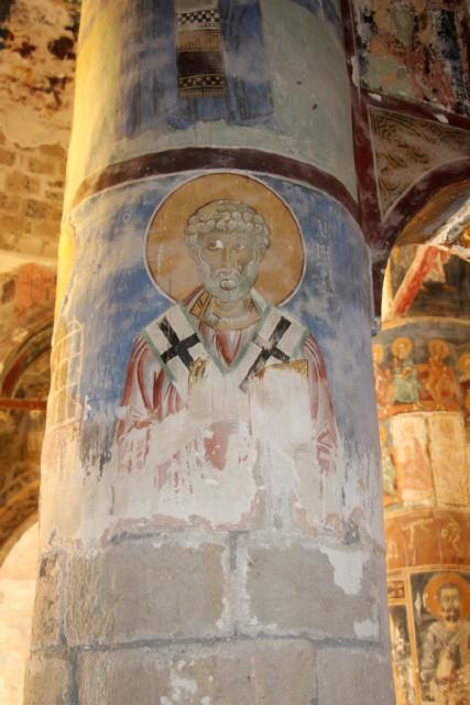 Ο Άγιος Δημητριανός Τοιχογραφία -(Ναός Χριστού του Αντιφωνητή)