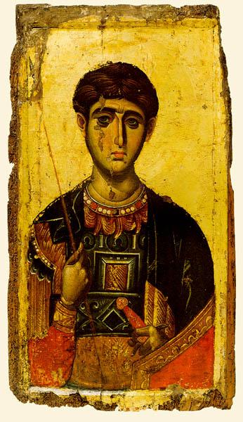 Άγιος Δημήτριος ο Μυροβλύτης - Φορητή εικόνα 14ος αι. - Μονή Βατοπαιδίου